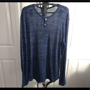 Express: Blue Loose Long Sleeve Top (L)
